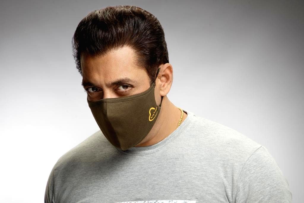 Salman Khan tweets pic wearing mask of his brand, gets trolled - Salman Khan