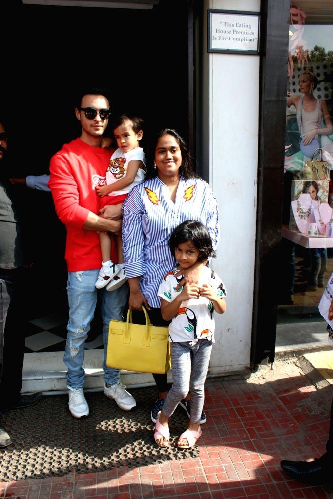 Salman's sister Arpita Khan and her husband Aayush Sharma seen in Mumbai's Bandra, on May 20, 2018. - Arpita Khan and Aayush Sharma