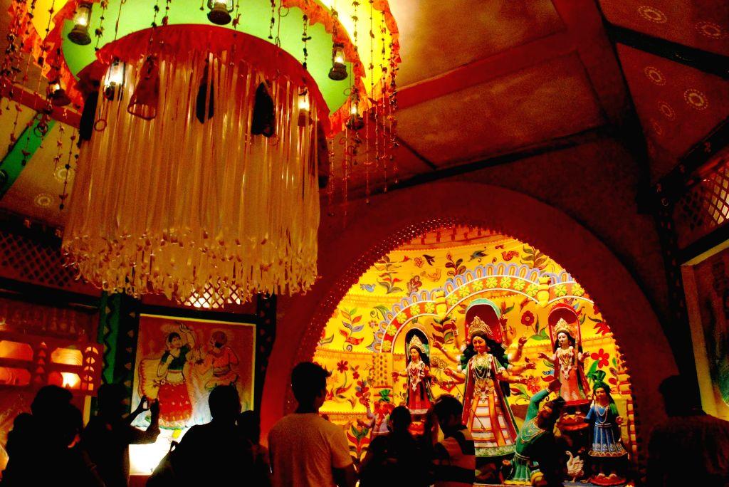 Salt Lake AJ Block Durga Puja Pandal in Kolkata, on Oct 7, 2016.