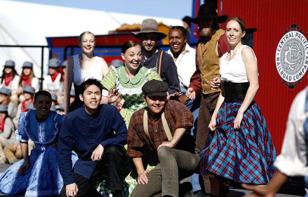 SALT LAKE CITY, May 11, 2019 - A performance is held to celebrate the 150th anniversary of the completion of the first U.S. transcontinental railroad, to which thousands of Chinese railroad workers ...