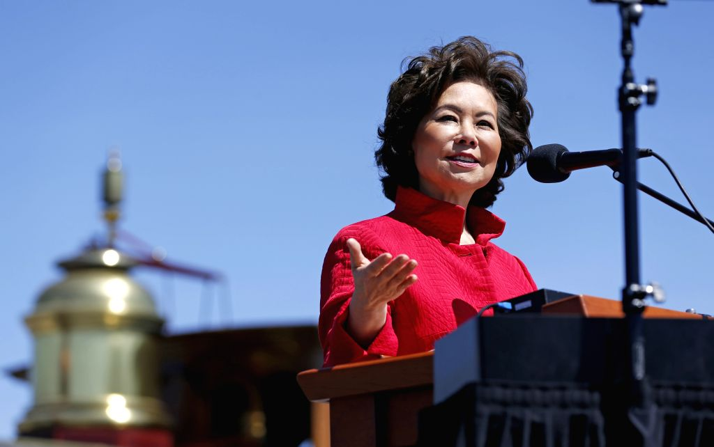 SALT LAKE CITY, May 11, 2019 - U.S. Secretary of Transportation Elaine L. Chao delivers a speech during the celebration for the 150th anniversary of the completion of the nation's first ...