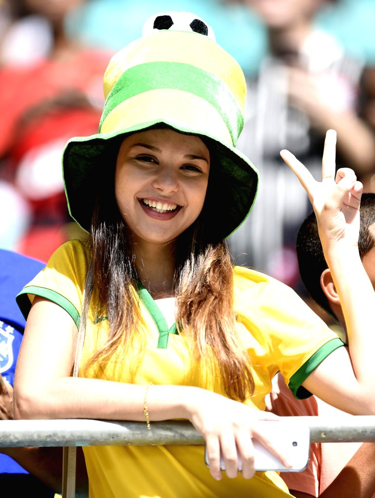A fan cheers before a Group G match between Germany and Portugal of 2014 FIFA World Cup at the Arena Fonte Nova Stadium in Salvador, Brazil, June 16, 2014. ...