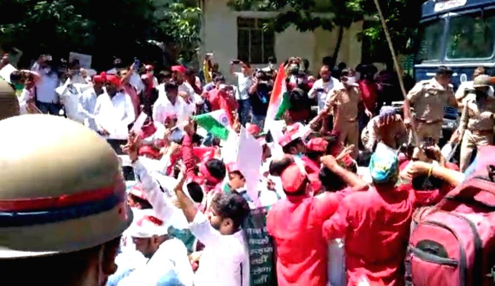 Samajwadi Party's protest