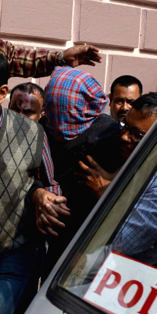 Sambia Sohrab, prime accused in the Red Road hit-and-run case being taken to produced at a Kolkata court on Jan 17, 2016.