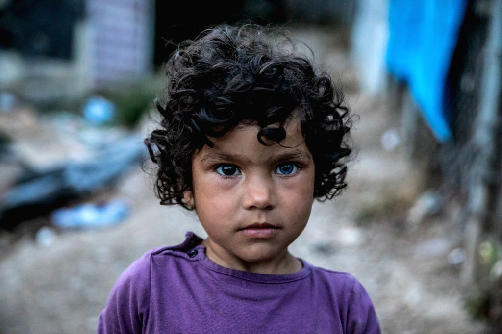 SAMOS (GREECE), May 27, 2019 Photo taken on May 23, 2019 shows 10-year-old Ahmida from Afghanistan at the refugee camp on Samos, an island in the eastern Aegean, Greece. Four years after ...