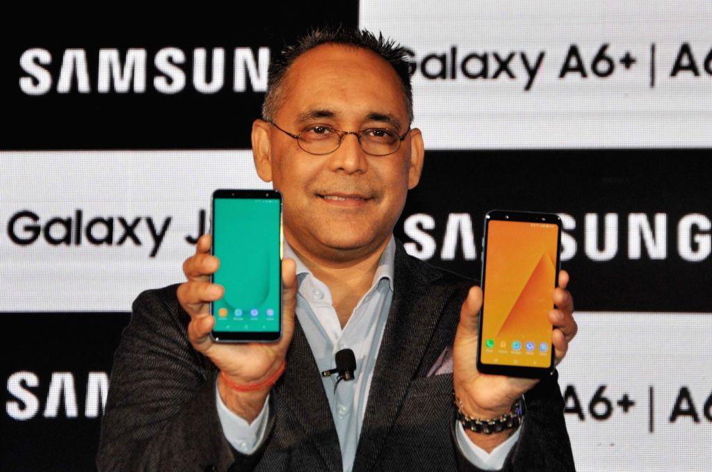 Samsung India Electronics Vice President (Mobiles Business) Manu Sharma at the launch of new Samsung Galaxy J and Samsung Galaxy A series smartphones in Kolkata, on May 21, 2018. - Manu Sharma