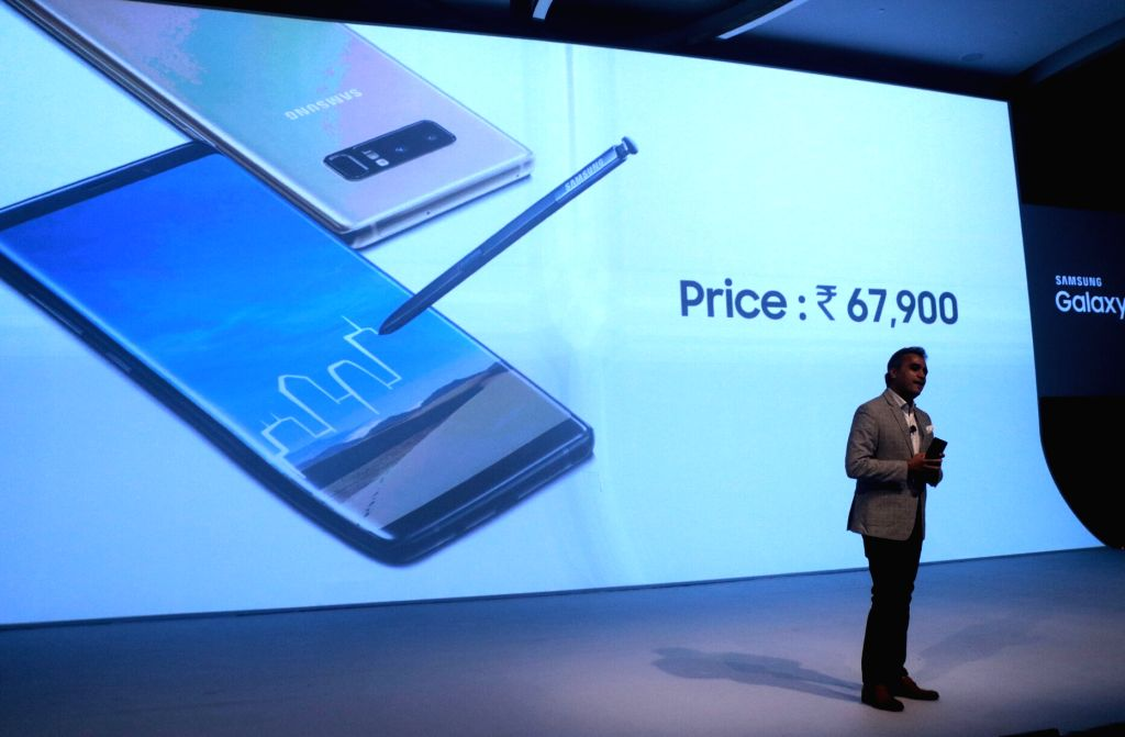 Samsung India Senior Vice President, Mobile Business Asim Warsi during the launch of Samsung Galaxy Note8 smartphone in New Delhi on Sept 12, 2017.
