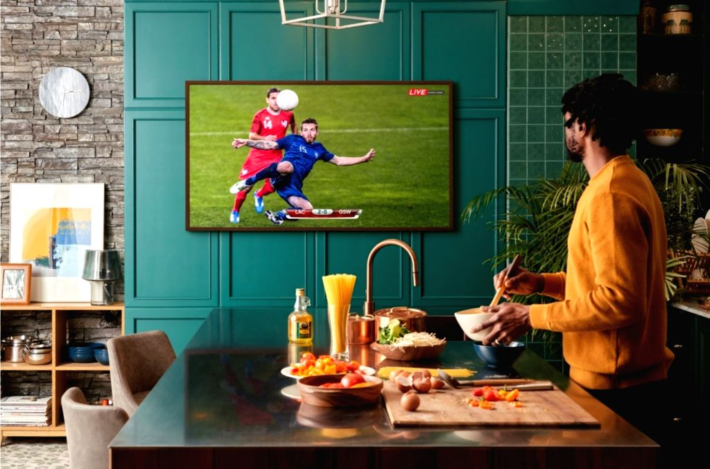 Samsung unveils latest edition of 'Frame TV' in India.