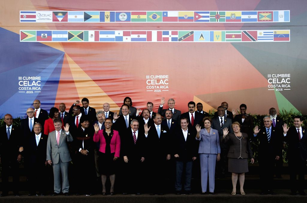 Heads of State and delegates pose for an official photo of the 3rd Summit of the Community of Latin American and Caribbean States (CELAC), in San ...