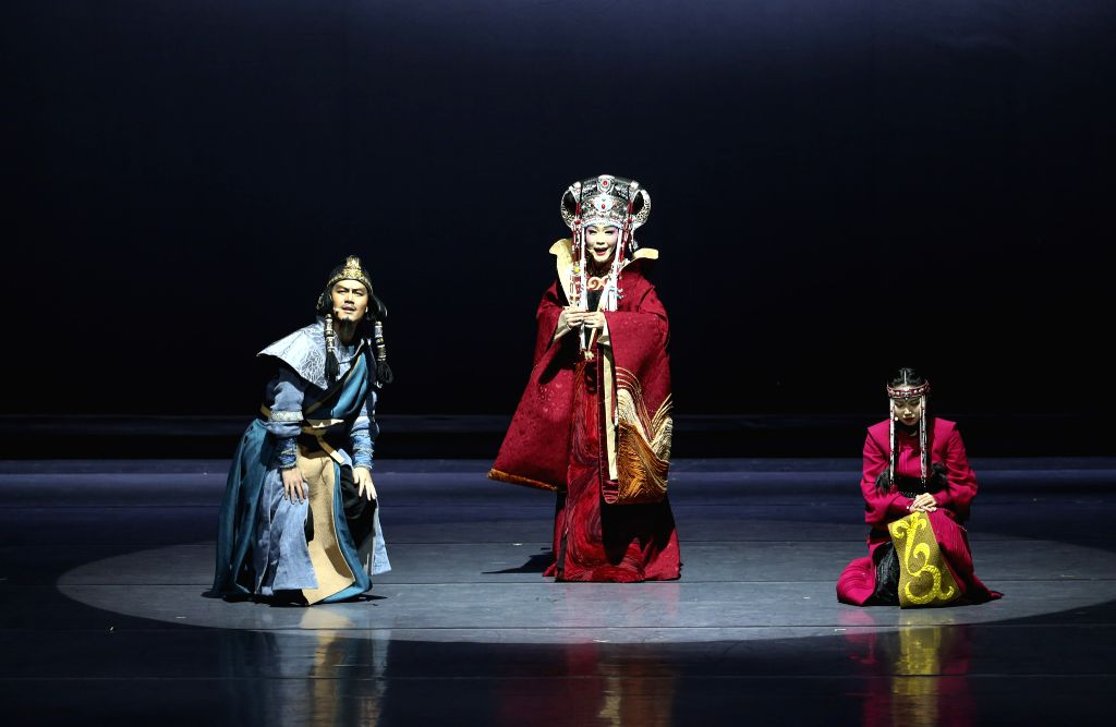 "SAN DIEGO (U.S.), Dec. 2, 2019 Artists perform during the Chinese musical ""Lady Zhaojun"" in San Diego, the United States, on Dec. 1, 2019. ""Lady Zhaojun"", starring ..."