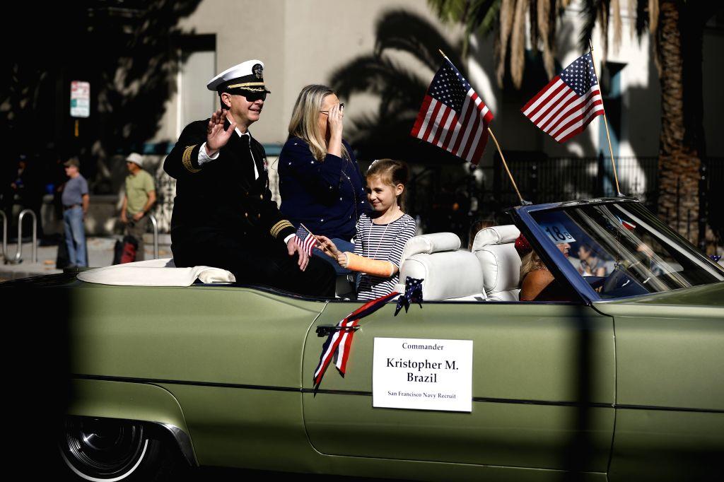 SAN FRANCISCO, Nov. 12, 2019 - Participants attend the Veterans Day Parade in San Jose, California, the United States, Nov. 11, 2019.