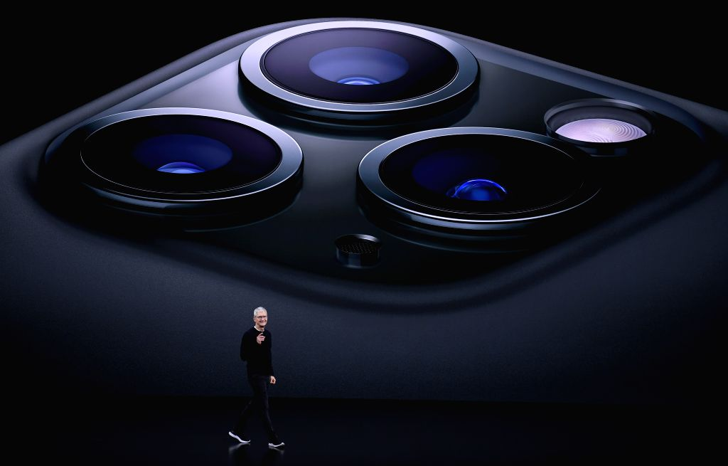 SAN FRANCISCO, Sept. 11, 2019 - Apple CEO Tim Cook speaks during a product launch event at Apple's headquarters in California, the United States, Sept. 10, 2019. Apple Inc. announced a new line of ...