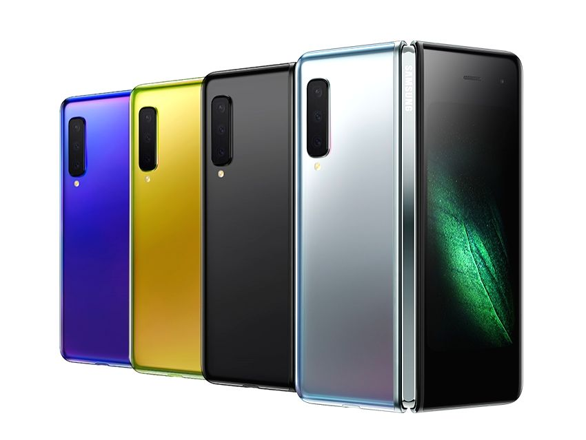 San Francisco: This photo, provided by Samsung Electronics Co., shows its foldable smartphones, the Galaxy Fold, which were introduced during an Unpacked event in San Francisco on Feb. 20, 2019.