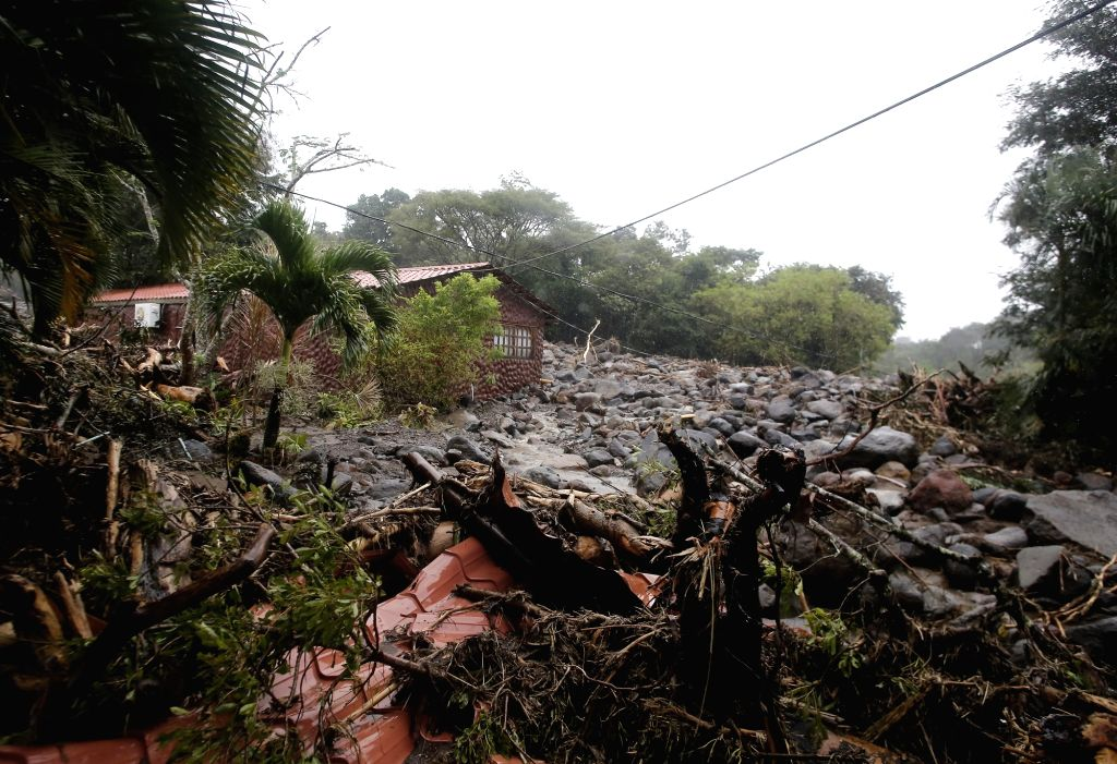 SAN JOSE, Nov. 28, 2016 - Photo taken on Nov. 27, 2016 shows the aftermath of Hurricane Otto in Guanacaste, northern Costa Rica, on Nov. 27, 2016. According to the Costa Rican National Commission of ...