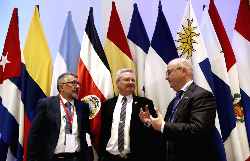 SAN JOSE, Sept. 13, 2016 - (L-R) Director of the Division of Production, Productivity and Management of the United Nations Economic Commission for Latin America and the Caribbean (ECLAC) Mario ...