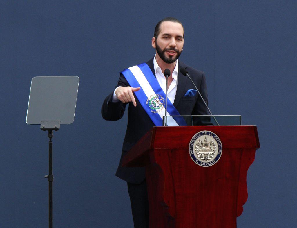 SAN SALVADOR, June 2, 2019 - El Salvador's new President Nayib Bukele delivers a speech during his inauguration ceremony in San Salvador, El Salvador, June 1, 2019. El Salvador's new President Nayib ...