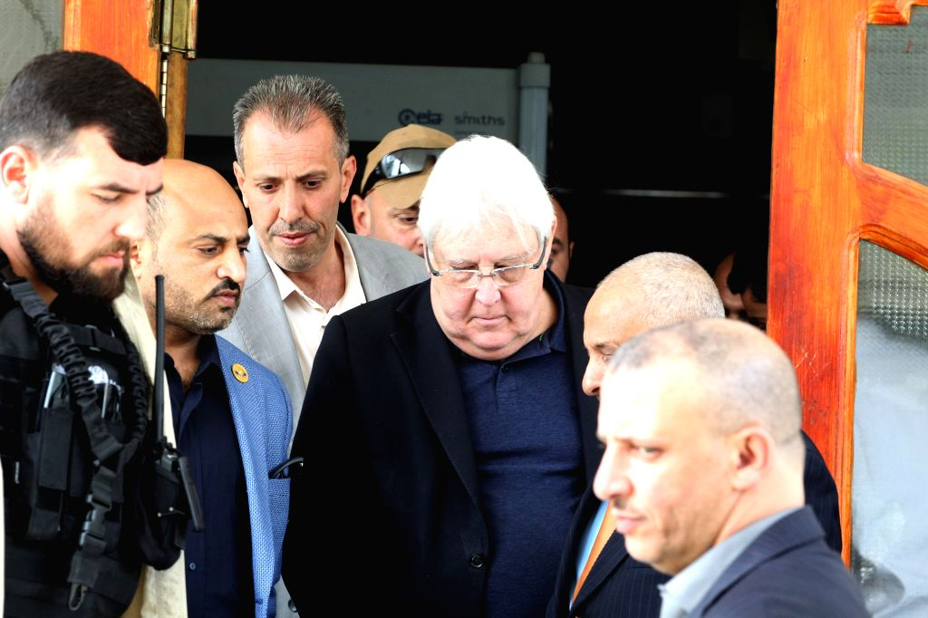 SANAA, July 16, 2019 - UN Special Envoy to Yemen Martin Griffiths arrives at Sanaa International Airport in Sanaa, Yemen, on July 16, 2019. Martin Griffiths arrived in Yemeni capital Sanaa on Tuesday ...