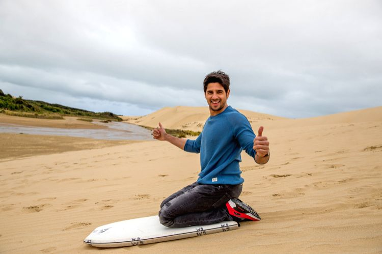 Sand surfing grips Sidharth Malhotra in New Zealand