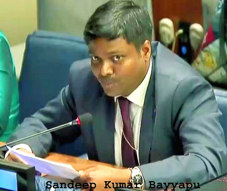 Sandeep Kumar Bayyapu, a first Secretary at India's Mission to the United Nations. (File Photo: Indian Mission/IANS) - Sandeep Kumar Bayyapu