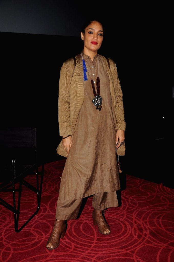 Sandhya Mridul arrives to attend the screening of Nikkhil Advani`s TV show `P.O.W. Bandi Yuddh Ke` at the Jio MAMI 18th Mumbai Film Festival, in Mumbai on Oct 25, 2016. - Nikkhil Advani