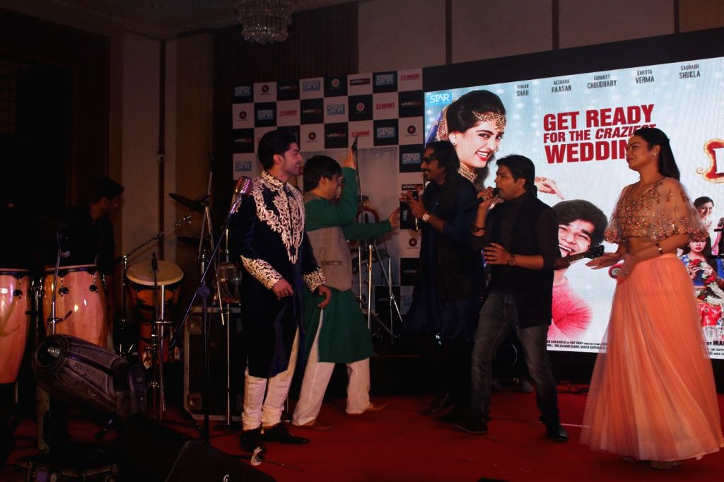 Sangeet Ceremony for film Laali Ki Shaadi Mein Laaddoo Deewana in Mumbai on March 21, 2017.