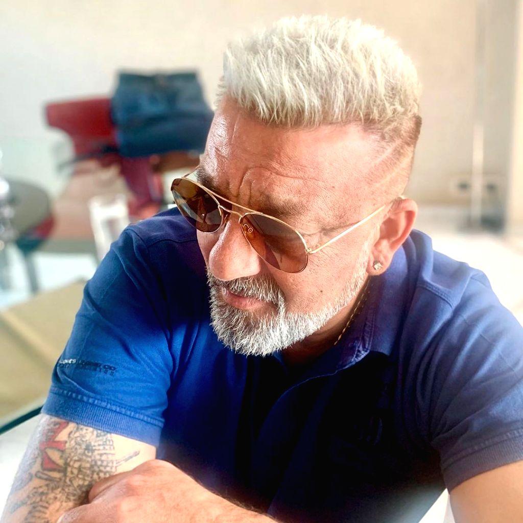 Sanjay Dutt flaunts platinum blonde hairdo. - Sanjay Dutt