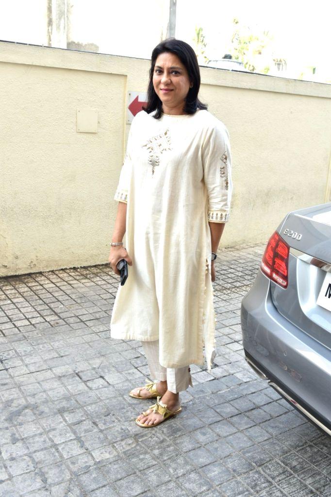 Sanjay Dutt's sister, Priya Dutt during a program in Mumbai on Jan 25, 2018. - Sanjay Dutt and Priya Dutt