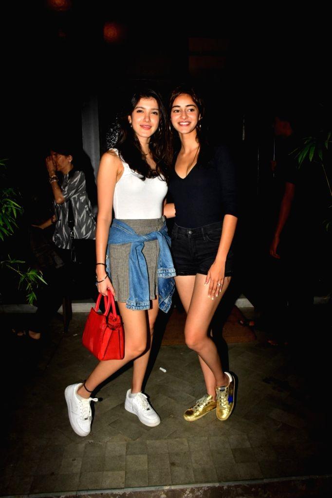 Sanjay Kapoor's daughter Shanaya Kapoor and actress Ananya Panday at Malaika Arora's son Arhaan Khan's birthday party at Pali Bhawan Bandra in Mumbai on Nov 9, 2019. - Ananya Panday, Sanjay Kapoor, Shanaya Kapoor, Malaika Arora and Arhaan Khan