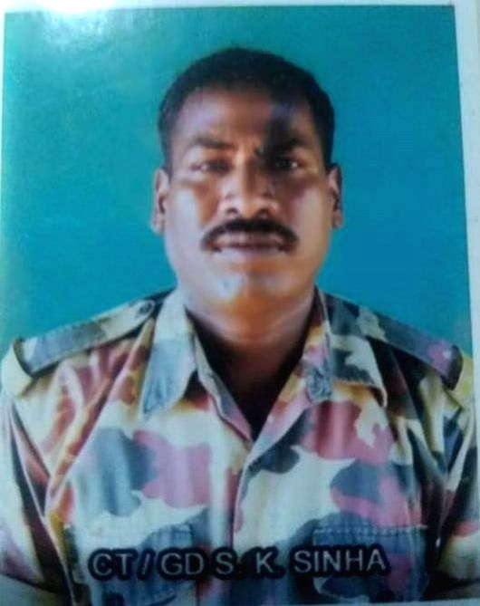 Sanjay Kumar Sinha of Masurhai in Patna district of Bihar, who was among the 45 CRPF personnel killed in a suicide attack by militants in Jammu and Kashmir's Pulwama district on 14th Feb 2019. (File ... - Sanjay Kumar Sinha