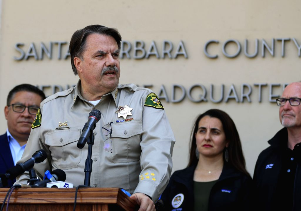 SANTA BARBARA, Sept. 3, 2019 - Santa Barbara County Sheriff Bill Brown speaks during a press briefing in Santa Barbara, California, the United States, Sept. 2, 2019. In response to multiple U.S. ...