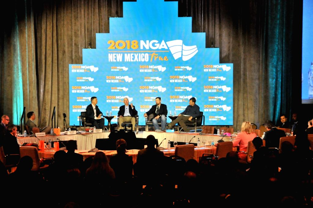 SANTA FE, July 20, 2018 - Delegates attend the plenary sessions of U.S National Governors Association (NGA) Summer Meeting in Santa Fe, the United States, July 20, 2018. U.S National Governors ...