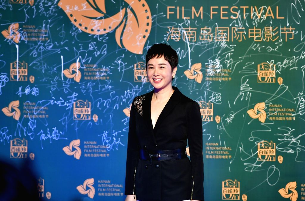 SANYA, Dec. 12, 2018 - Actress Jiang Wenli appears on the red carpet ceremony of the 1st Hainan Island International Film Festival in Sanya, south China's Hainan Province, Dec. 11, 2018. The first ... - Jiang Wenli