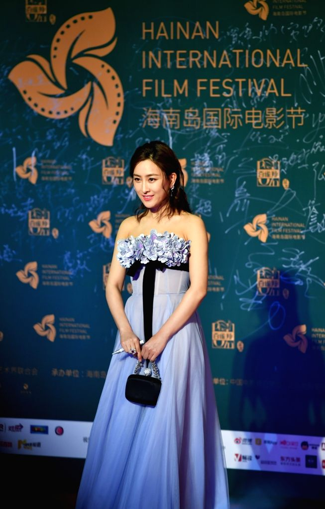 SANYA, Dec. 12, 2018 - Actress Ma Su appears on the red carpet ceremony of the 1st Hainan Island International Film Festival in Sanya, south China's Hainan Province, Dec. 11, 2018. The first Hainan ... - M