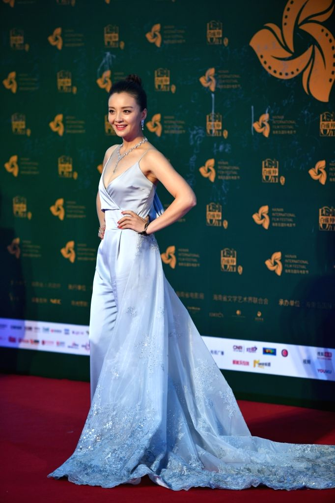 SANYA, Dec. 12, 2018 - Actress Sun Qian appears on the red carpet ceremony of the 1st Hainan Island International Film Festival in Sanya, south China's Hainan Province, Dec. 11, 2018. The first ... - Sun Qian