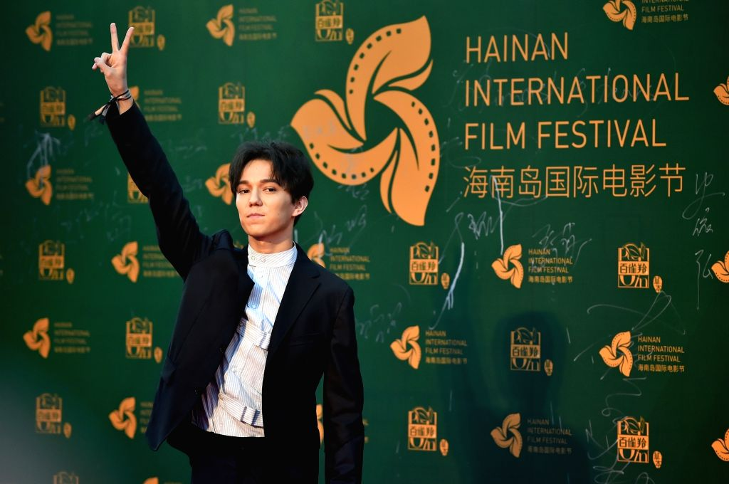 SANYA, Dec. 12, 2018 - Singer Dimash Kudaibergen appears on the red carpet ceremony of the 1st Hainan Island International Film Festival in Sanya, south China's Hainan Province, Dec. 11, 2018. The ...