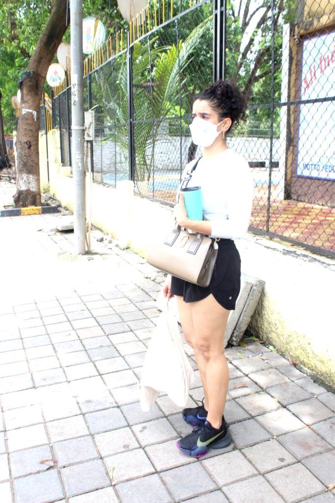 Sanya Malhotra Spotted at Gym Santacruz on Friday June 18,2021. - Sanya Malhotra Spotted