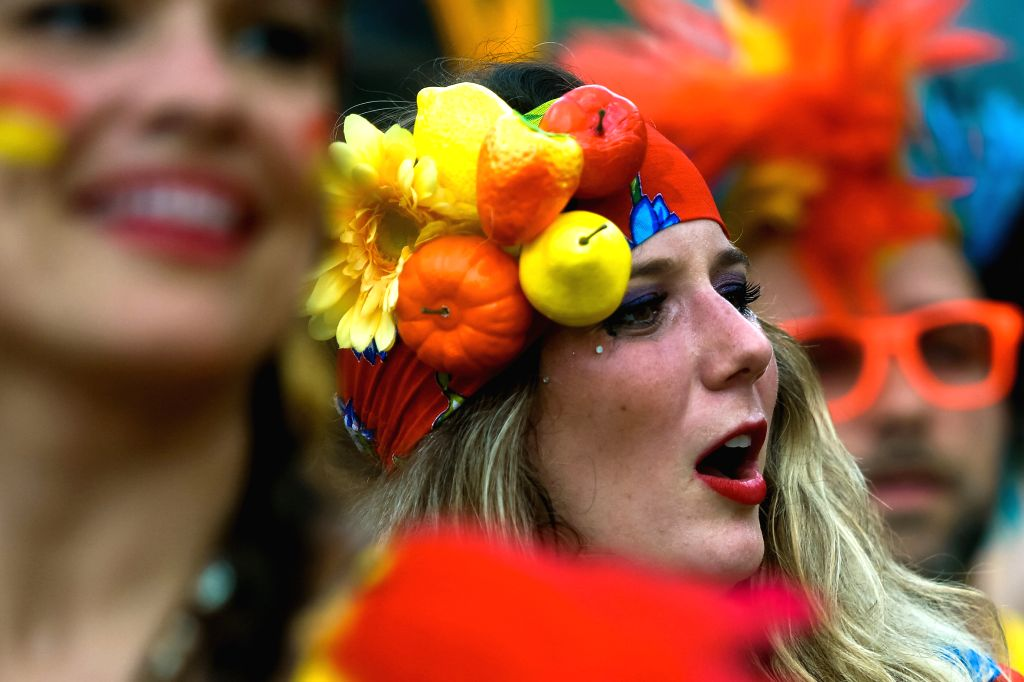 "People take part in the street parade ""Bangalafumega"", part of pre-Carnival festivities at Sumare neighborhood in Sao Paulo, Brazil, on Feb. 7, 2015. The"
