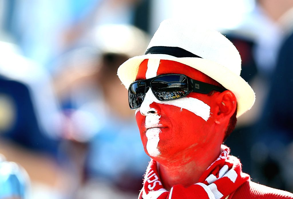 A Switzerland's fan poses before a Round of 16 match between Argentina and Switzerland of 2014 FIFA World Cup at the Arena de Sao Paulo Stadium in Sao Paulo, ...