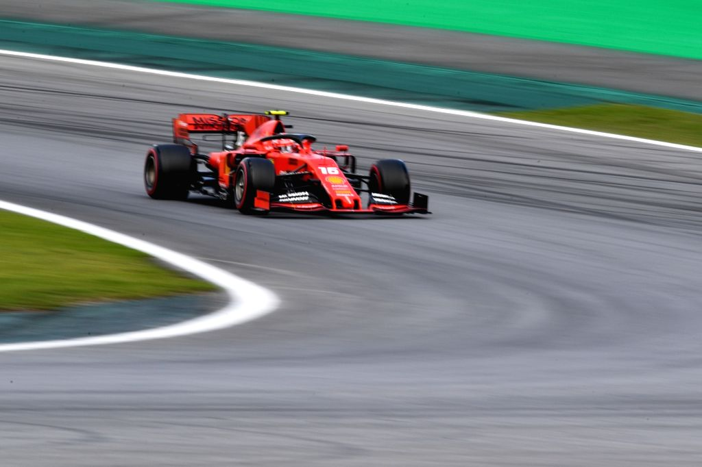 Sao Paulo, Nov. 17, 2019 - Ferrari's driver Charles Leclerc of Monaco races during the qualifying session of the the Formula One Brazilian Grand Prix held at the Jose Carlos Pace Circuit in Sao ...