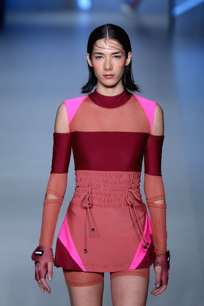 SAO PAULO, Oct. 29, 2016 - A model presents a creation of Memo's collection during Sao Paulo's Fashion Week (SPFW), in Sao Paulo, Brazil, on Oct. 28, 2016.