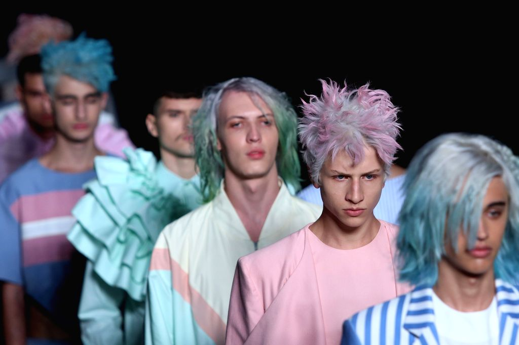 SAO PAULO, Oct. 29, 2016 - Models present creations of Joao Pimenta's collection during Sao Paulo's Fashion Week (SPFW), in Sao Paulo, Brazil, on Oct. 28, 2016.