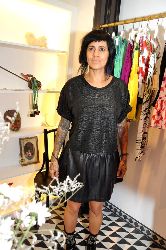 Sapna Bhavnani during the launch of Turquoise & Gold store in Mumbai on April 16, 2014.