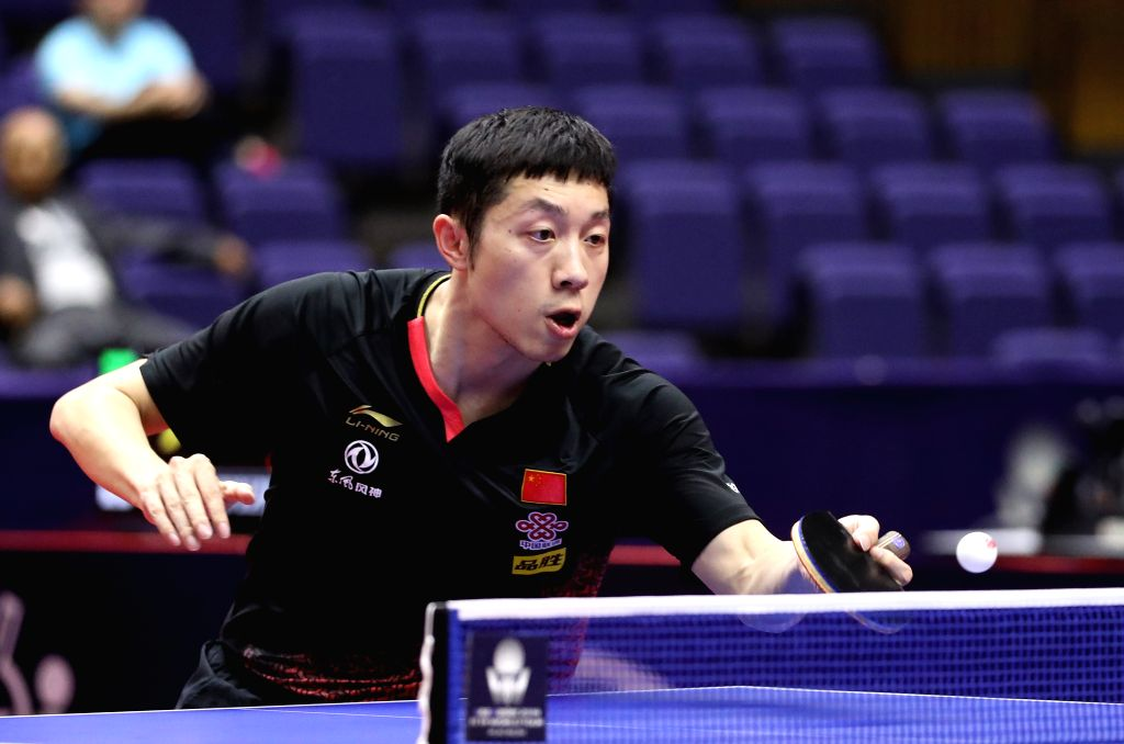 SAPPORO, June 15, 2019 - Xu Xin of China competes during the men's singles quarterfinal match against Jang Woojin of South Korea at ITTF World Tour Platinum Japan Open in Sapporo, Japan, on June 15, ...