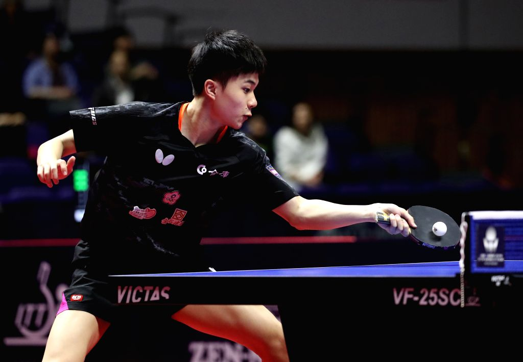 SAPPORO, June 16, 2019 - Lin Yun-Ju of Chinese Taipei competes during the men's singles semifinal match against Sun Wen of China at ITTF World Tour Platinum Japan Open in Sapporo, Japan, on June 16, ...