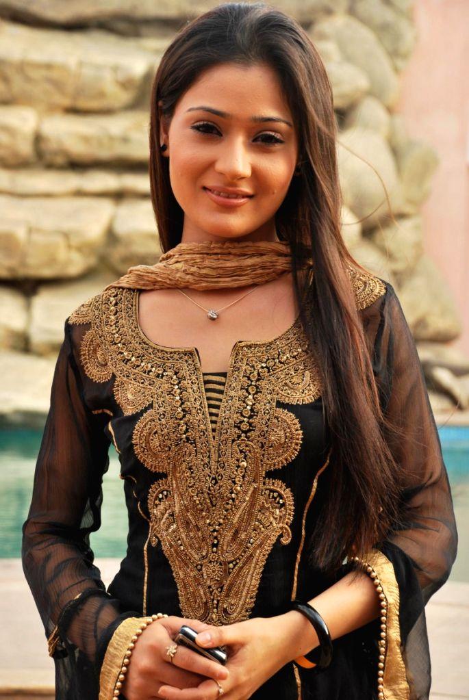 Sara Khan at the location of 3 Nights 4 Days.