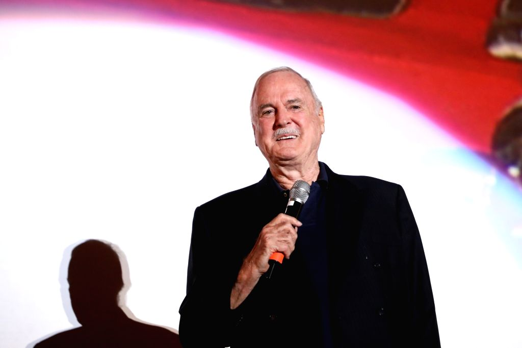 SARAJEVO, Aug. 16, 2017 - British comedian John Cleese speaks to the audience during the 23rd Sarajevo Film Festival (SFF), in Sarajevo, Bosnia and Herzegovina, on Aug. 16, 2017. John Cleese received ...