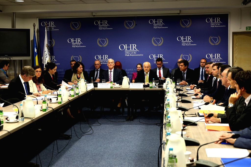 SARAJEVO, June 18, 2019 - Steering board political directors of the Peace Implementation Council (PIC) attend a meeting in Sarajevo, Bosnia and Herzegovina, on June 17, 2019. Bosnia and Herzegovina's ...