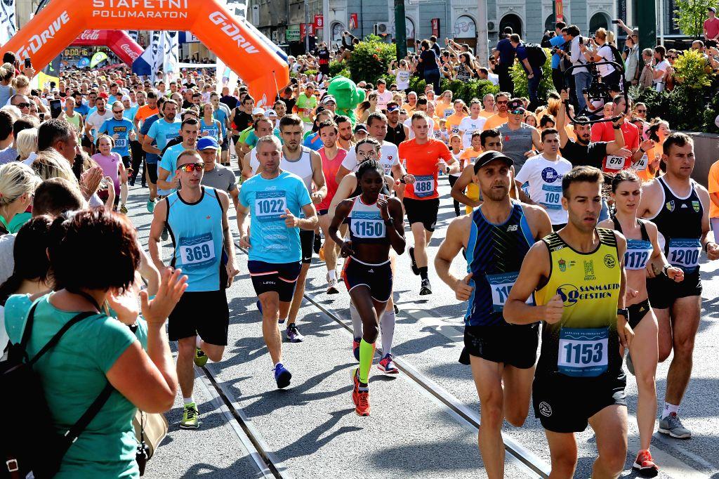 SARAJEVO, Sept. 17, 2017 - Runners take part in the 11th Sarajevo half-marathon in Sarajevo, Bosnia and Herzegovina, on Sept. 17, 2017.