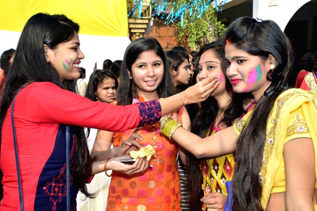 Saraswati Puja celebrations underway in Patna on Jan 22, 2018.