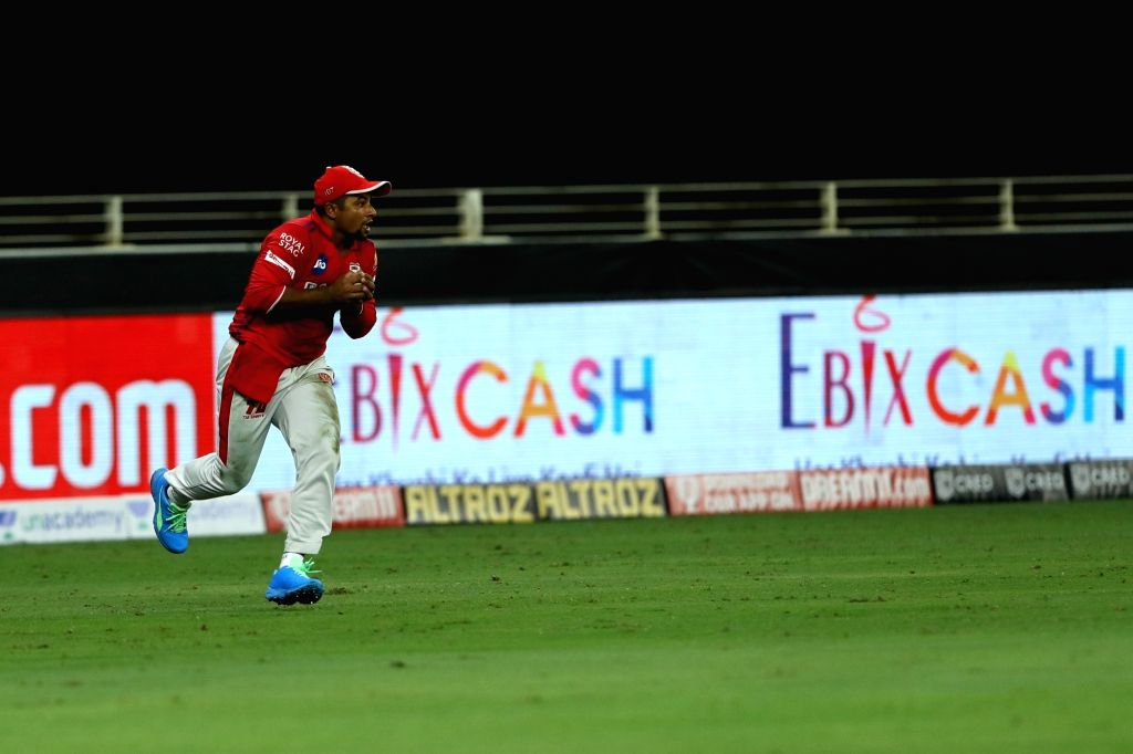Sarfaraz Khan of Kings XI Punjab took the catch of AB de Villiers of Royal Challengers Bangalore during match 6 of season 13, Dream 11 Indian Premier League (IPL) between Kings XI Punjab and Royal ... - Sarfaraz Khan